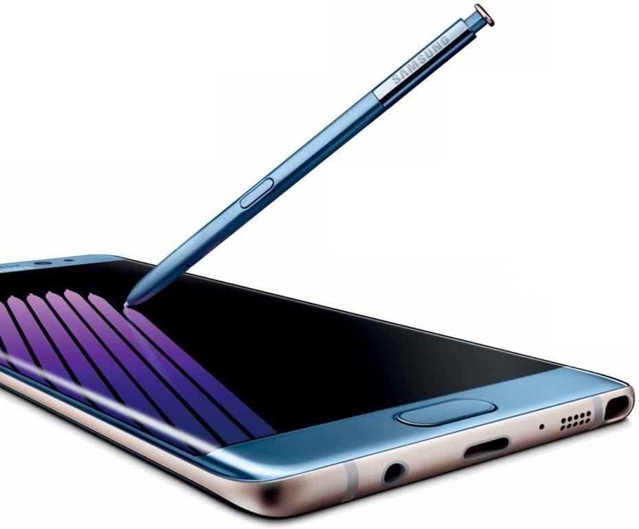 Galaxy Note 7 con puntero