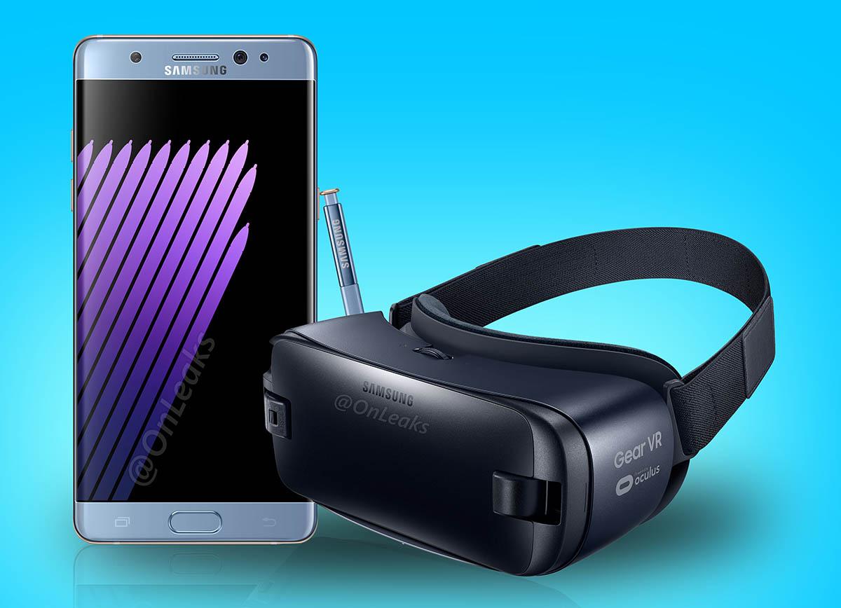Note 7 con gafas VR