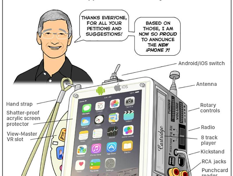 Joy of Tech iPhone democratico detalle