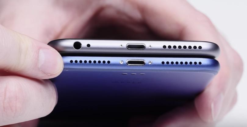 iPhone 7 rejilla altavoces-1