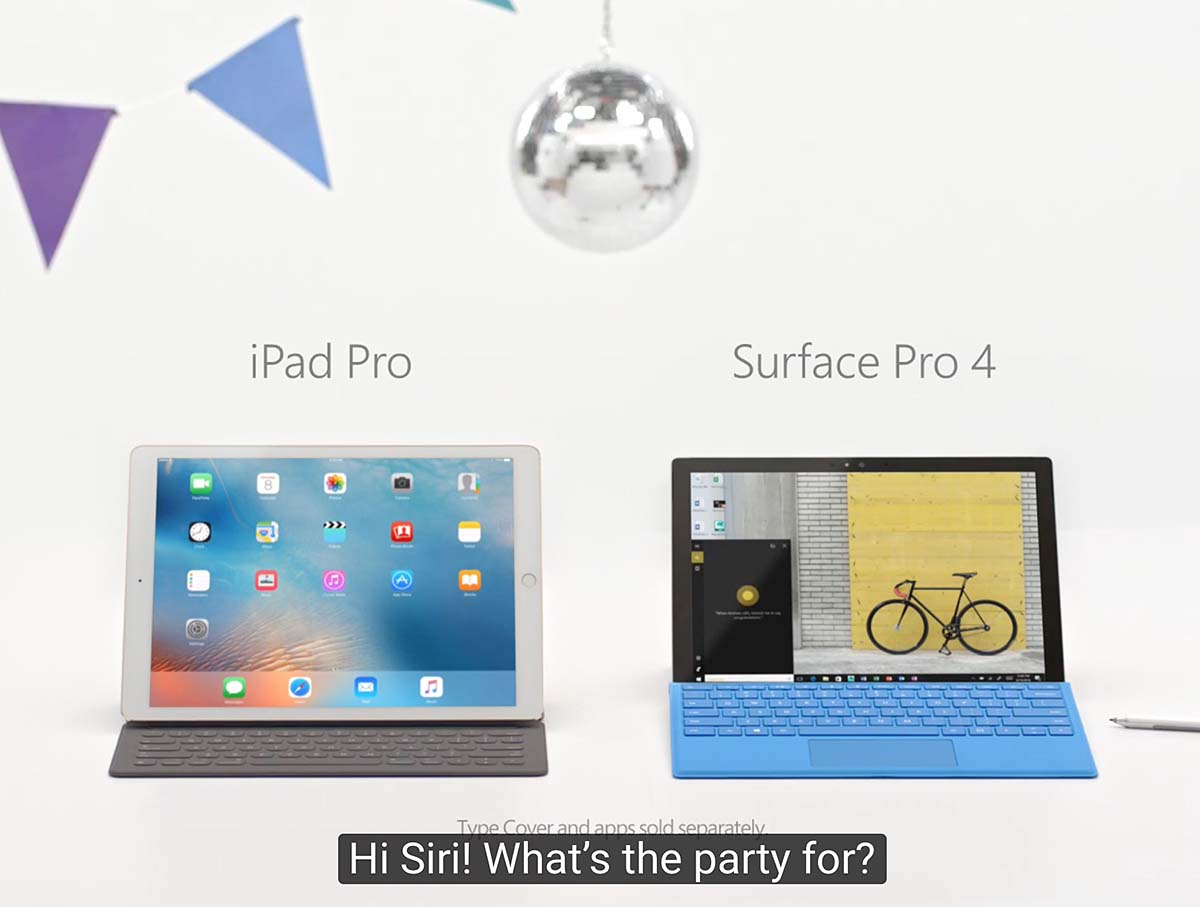iPad vs Surface anuncio