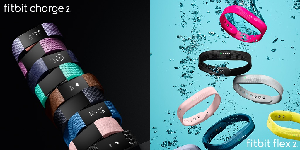 Fitbit Charge 2 y Flex 2, nuevas pulseras para salud y deporte