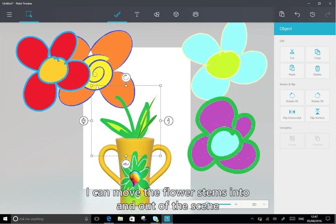 Así Es El Nuevo Paint Con Funciones De Dibujo 3d Que Incluirá Windows 10