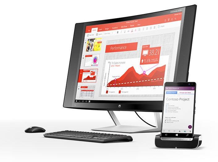 El HP Elite X3 tiene como prestación estrella la posibilidad de convertirse en un PC con Windows 10