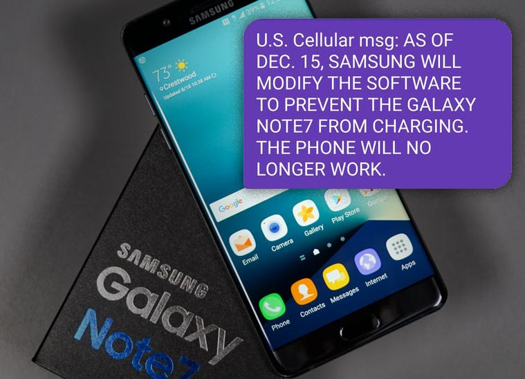 Los Galaxy Note 7 quedarán inútiles en breve
