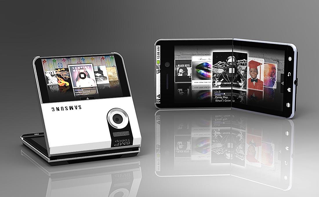 Así podría ser el Galaxy X, el móvil plegable de Samsung
