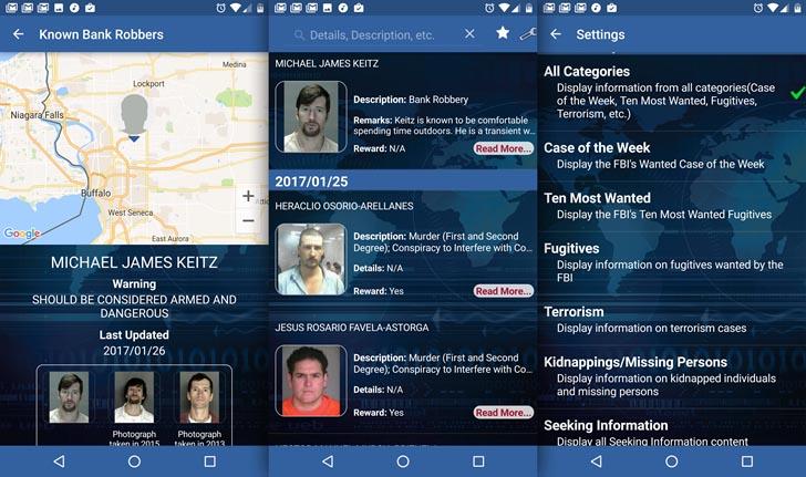 El FBI ya tiene su app con los delincuentes más buscados