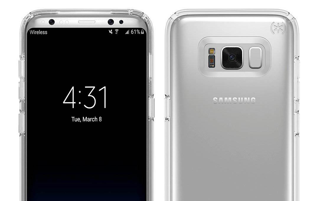 Galaxy S8 render carcasa detalle