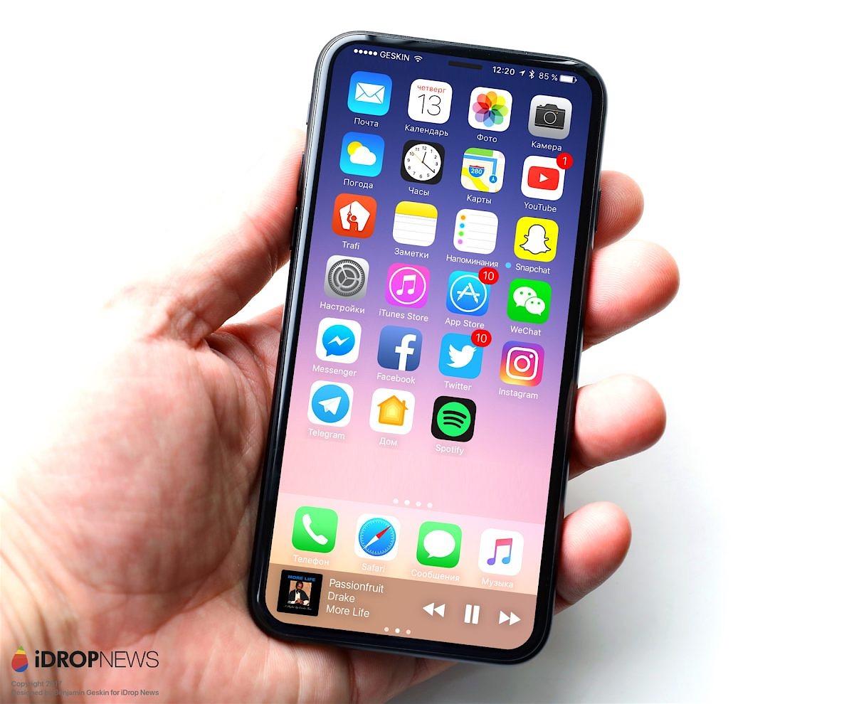 Recreación del aspecto del iPhone 8