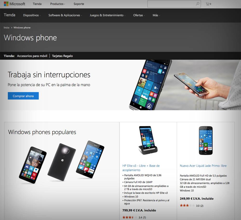 Tienda Windows Phone