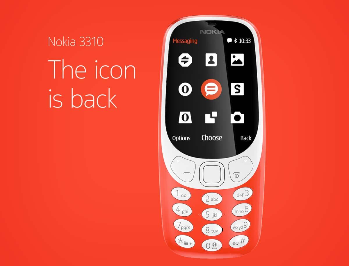 El nuevo Nokia 3310 llegara a un precio de unos 60 euros