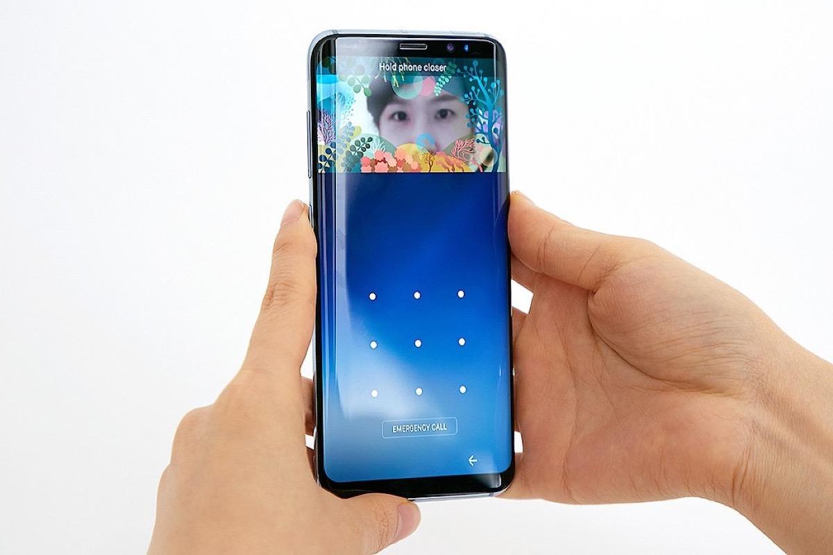 Galaxy S8 reconocimiento facial