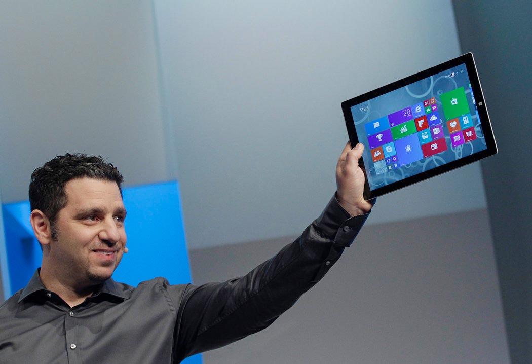 Panos Panay, responsable de la gama Surface de Microsoft