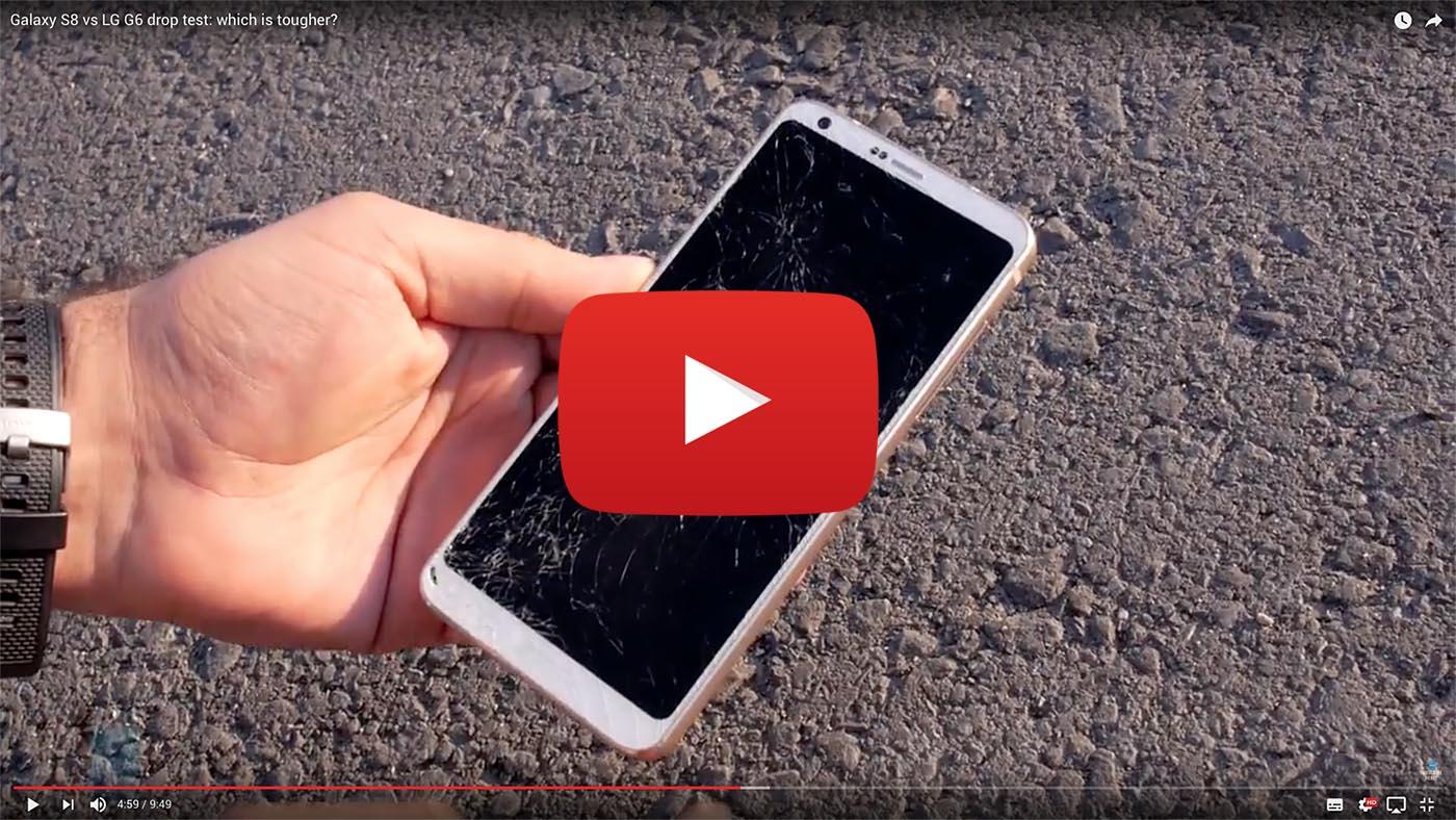 Así resisten golpes el LG G6 y el Samsung Galaxy S8