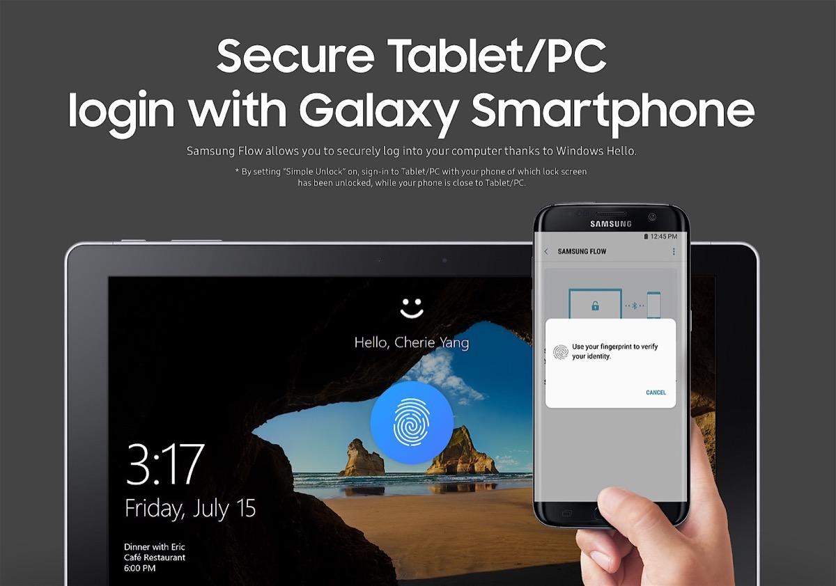 Samsung Flow te permite desbloquear tu ordenador con el lector de huella de tu smartphone