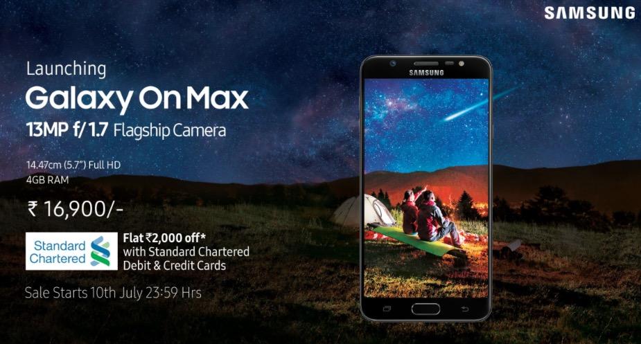 El nuevo Samsung Galaxy On Max está destinado en principio al mercado Indio