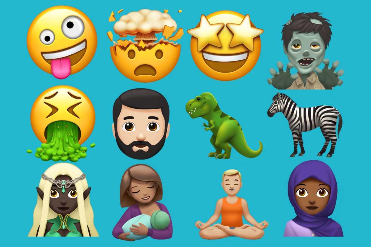 Algunos de los emoji que encontrarás en iOS 11