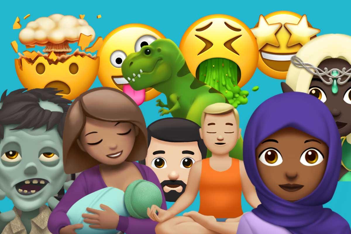 Algunos de los nuevos emoji que llegarán con iOS 11