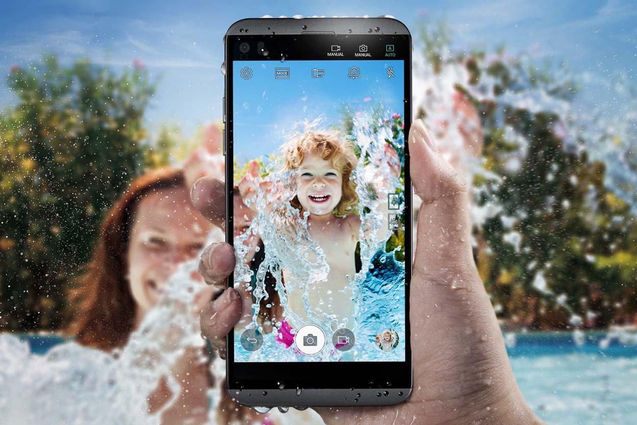 El nuevo LG Q8 es una versión compacta y resistente al agua del LG V20