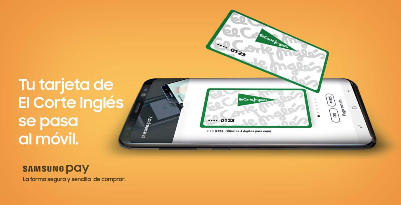 La tarjeta de El Corte Inglés se integra en Samsung Pay