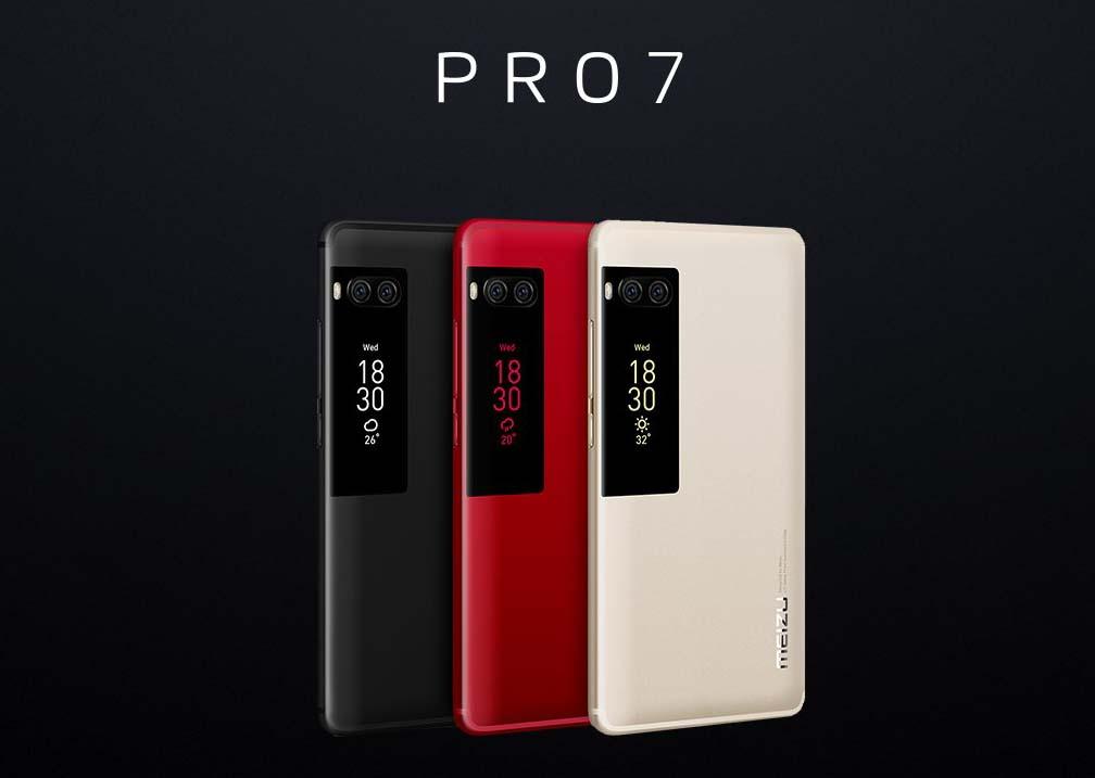 El nuevo Meizu Pro 7 cuenta con una segunda pantalla trasera en color y táctil