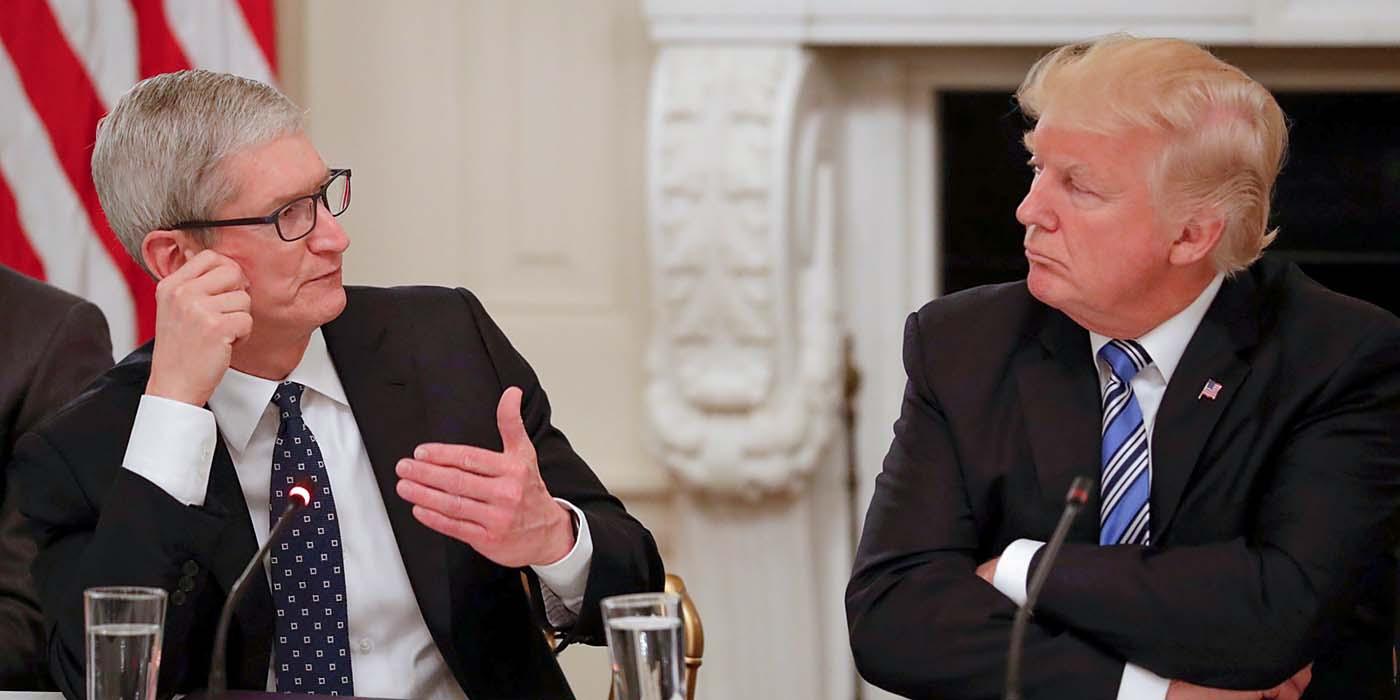 Donald Trump asegura que Tim Cook ha aceptado instalar fábricas en EEUU