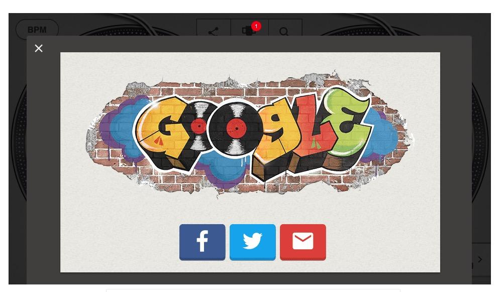 El doodle que incluye Google hoy celebra el 44 aniversario del nacimiento de la música Hip-Hop