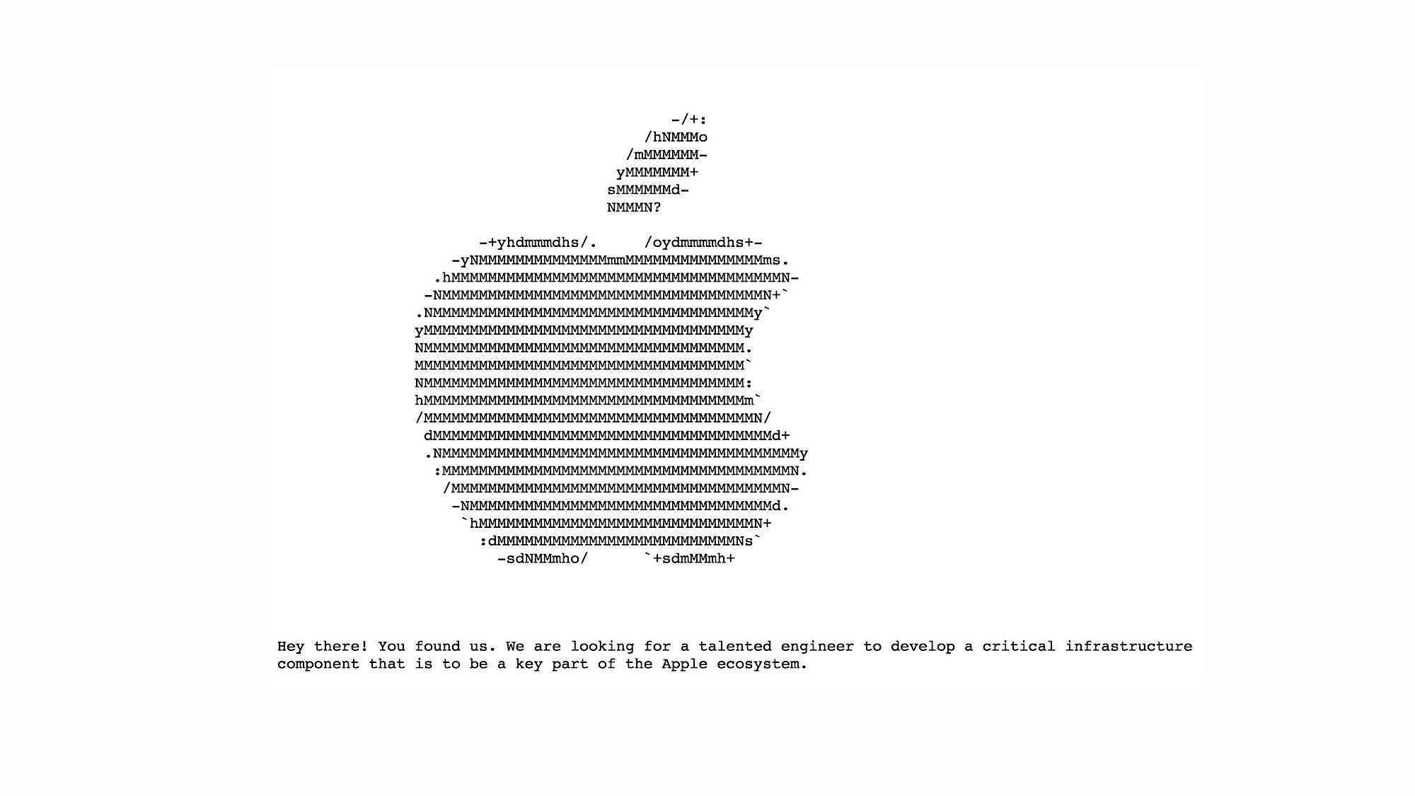 """La oferta """"secreta"""" de Apple parece casi una página para hackers más que una oferta convencional"""