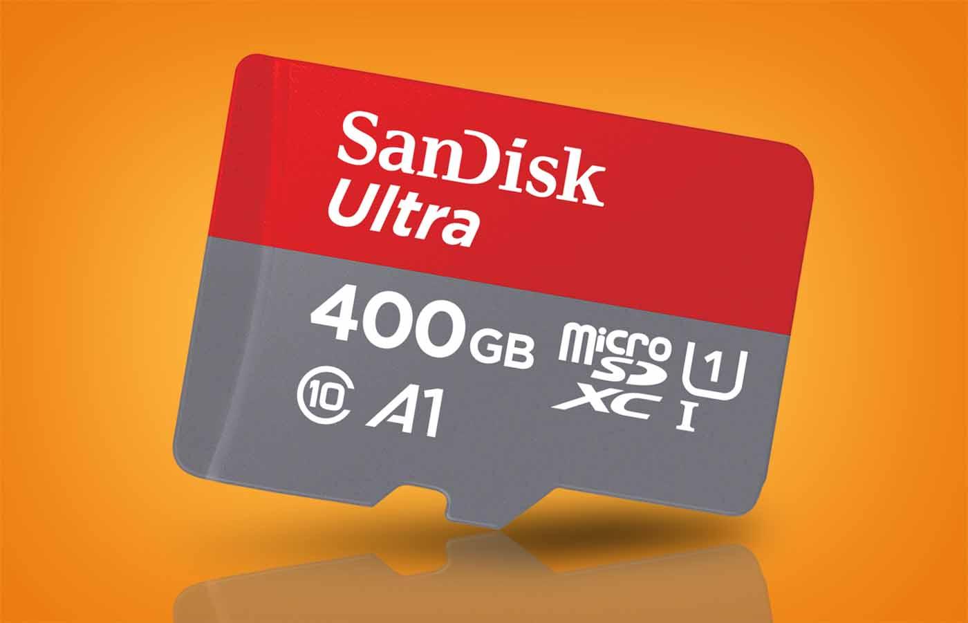 La nueva tarjeta SanDisk Ultra UHS-I alcanza una capacidad de 400 GB, más que muchos portátiles