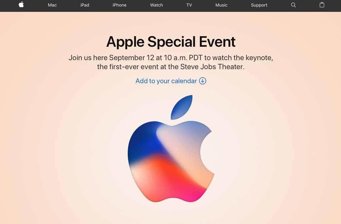 Apple keynote iPhone 8