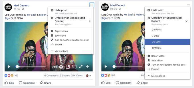 Facebook te permitirá silenciar temporalmente contactos o páginas molestas