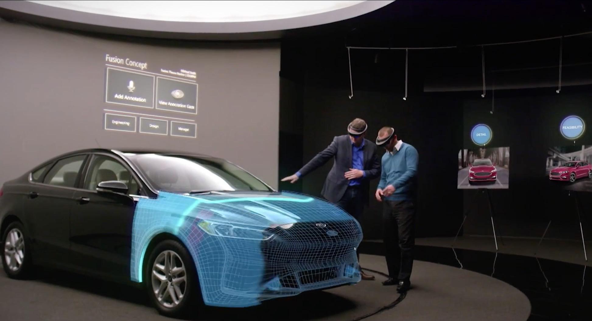 El fabricante Ford ya está probando las gafas de realidad aumentada HoloLens de Microsoft en el diseño de sus vehículos