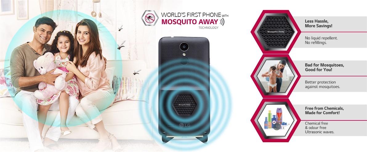 El LG K7i es el primer móvil con una carcasa que asegura es capaz de ahuyentar a los mosquitos