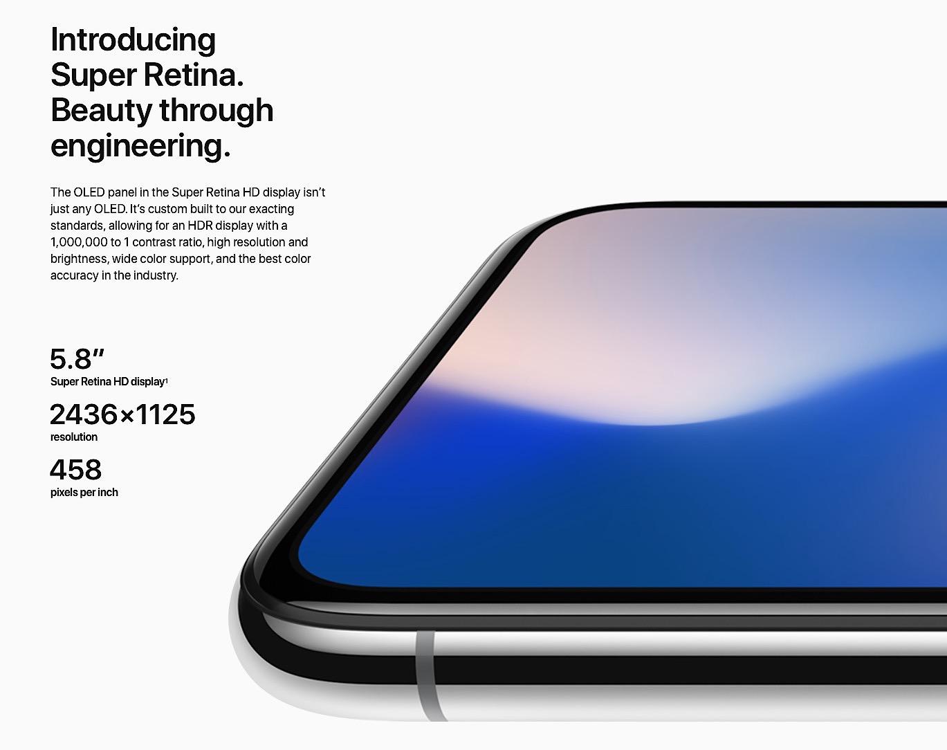 iPhone X pantalla retina
