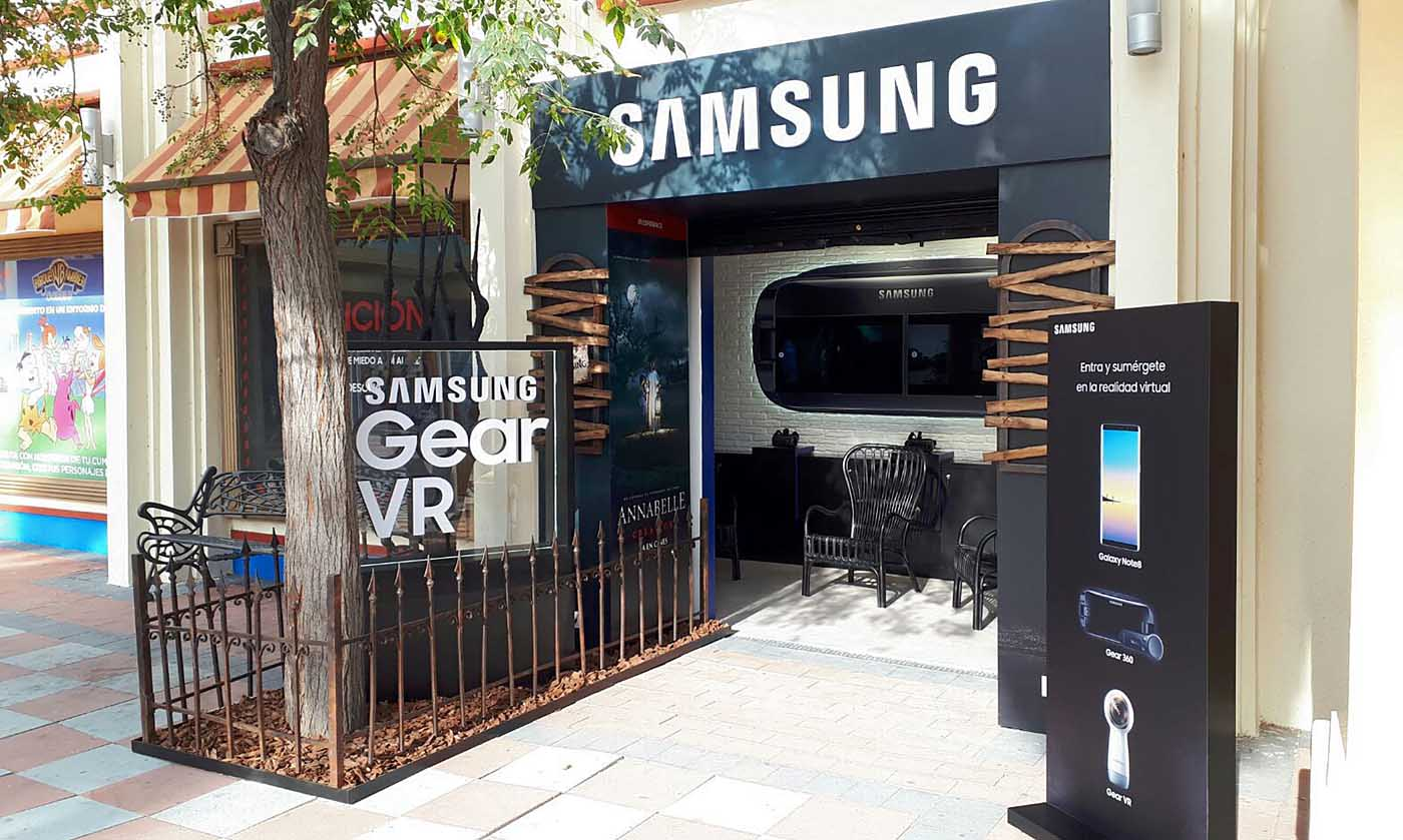 Samsung ya tiene su propio espacio entre del Parque Warner de Madrid