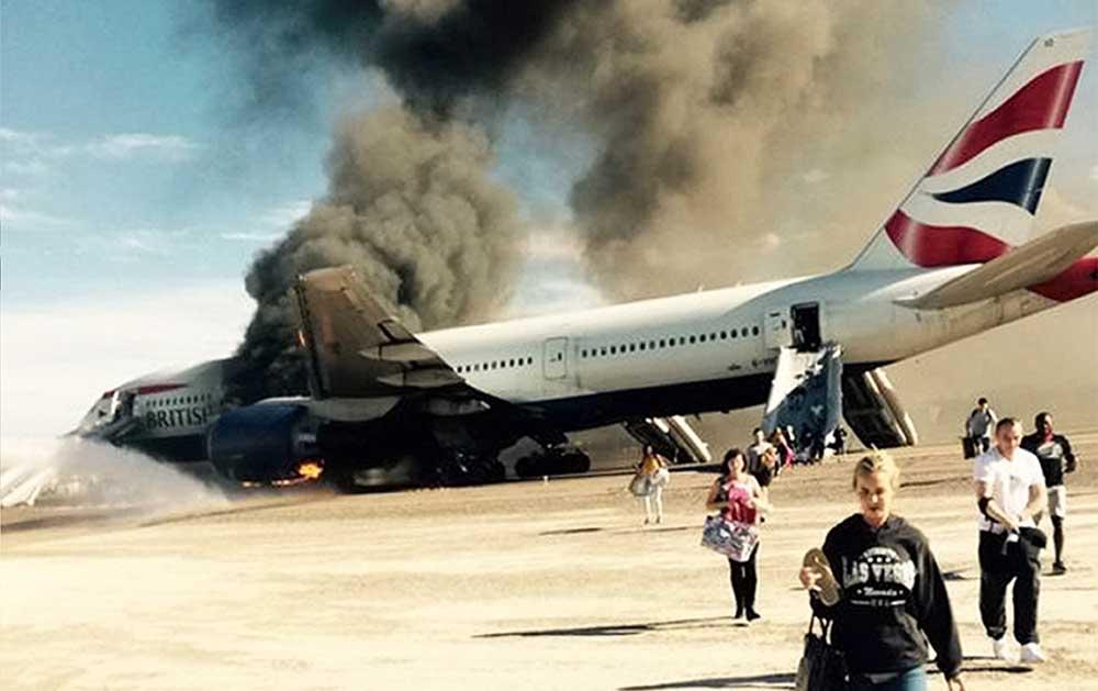Avion ardiendo