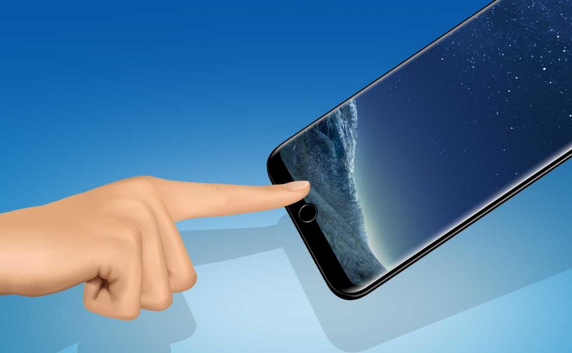 El Galaxy S9 podría integrar el lector de huella en el frontal en un pequeño corte en la pantalla
