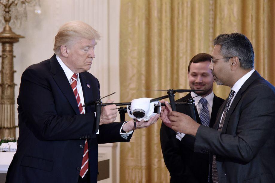Donald Trump quiere más drones en EEUU