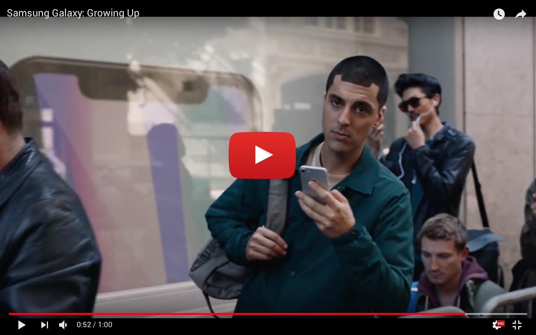 Samsung ha publicado hoy un divertido comercial que se burla del iPhone X