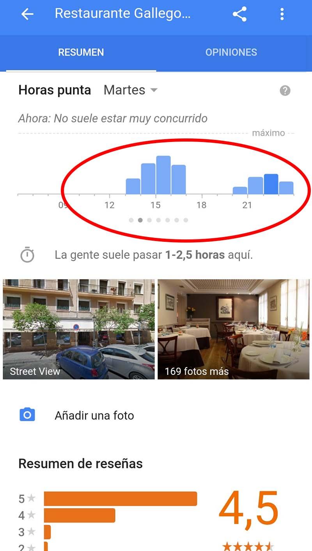 Google app restaurante