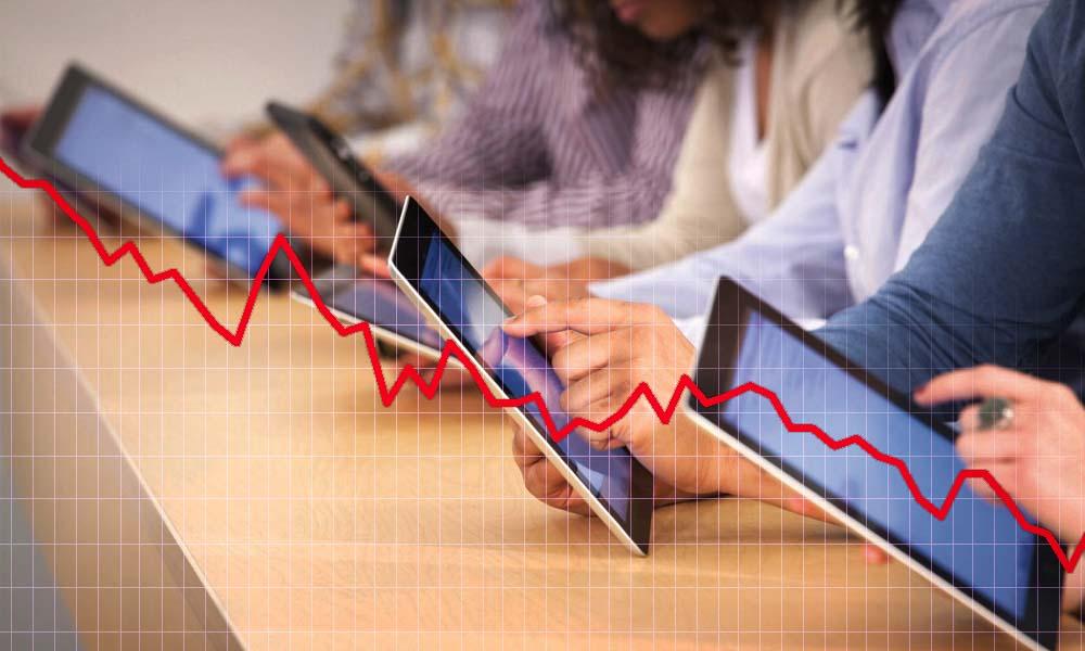 Según las cifras de IDC, las ventas de tabletas han vuelto a descender y llevan ya 12 trimestres consecutivos de caída