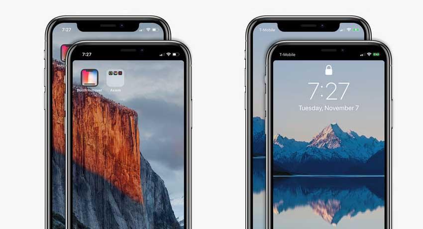 "Notch Remover te permite ocultar el famoso ""notch"" o corte de la zona superior de la pantalla del iPhone X"