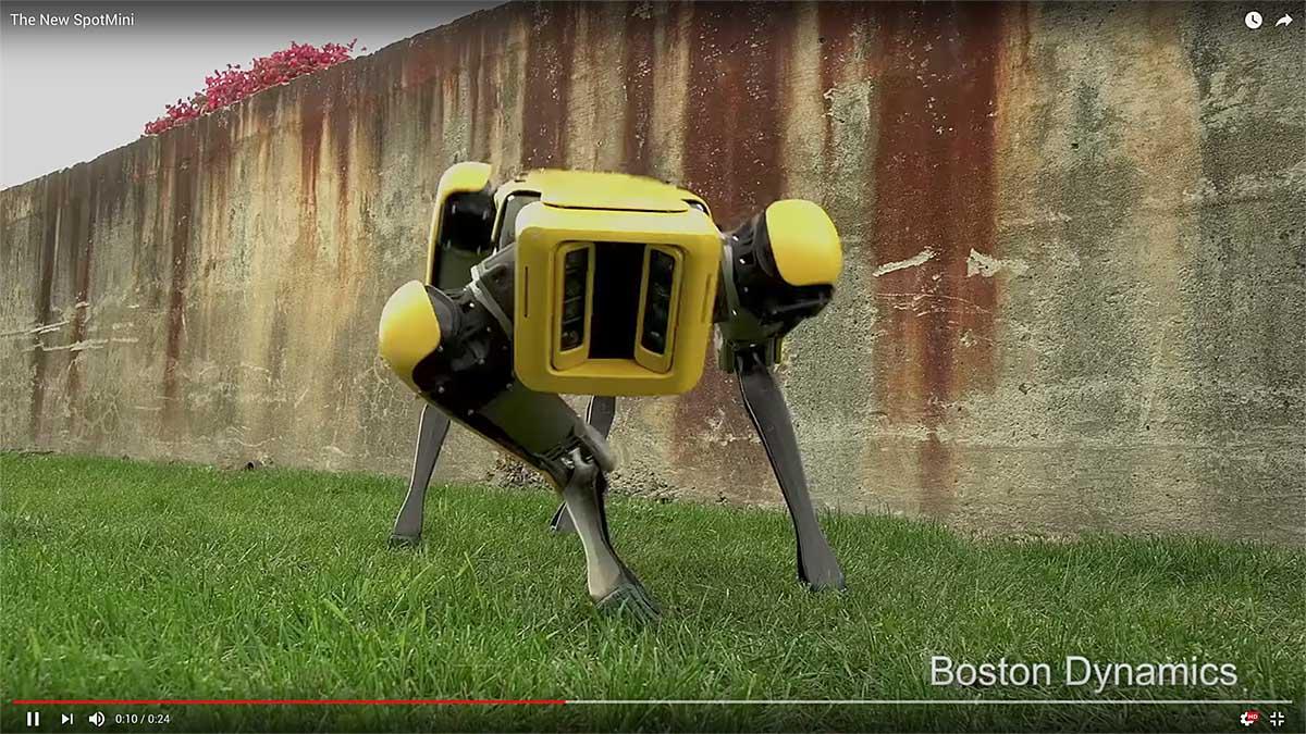 La nueva versión del robot SpotMini de Boston Dynamics parece casi un producto a punto de comercializarse