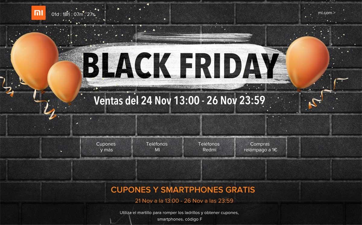 Xiaomi ofrecerá hasta 50 terminales a un euro en su promoción para el Black Friday
