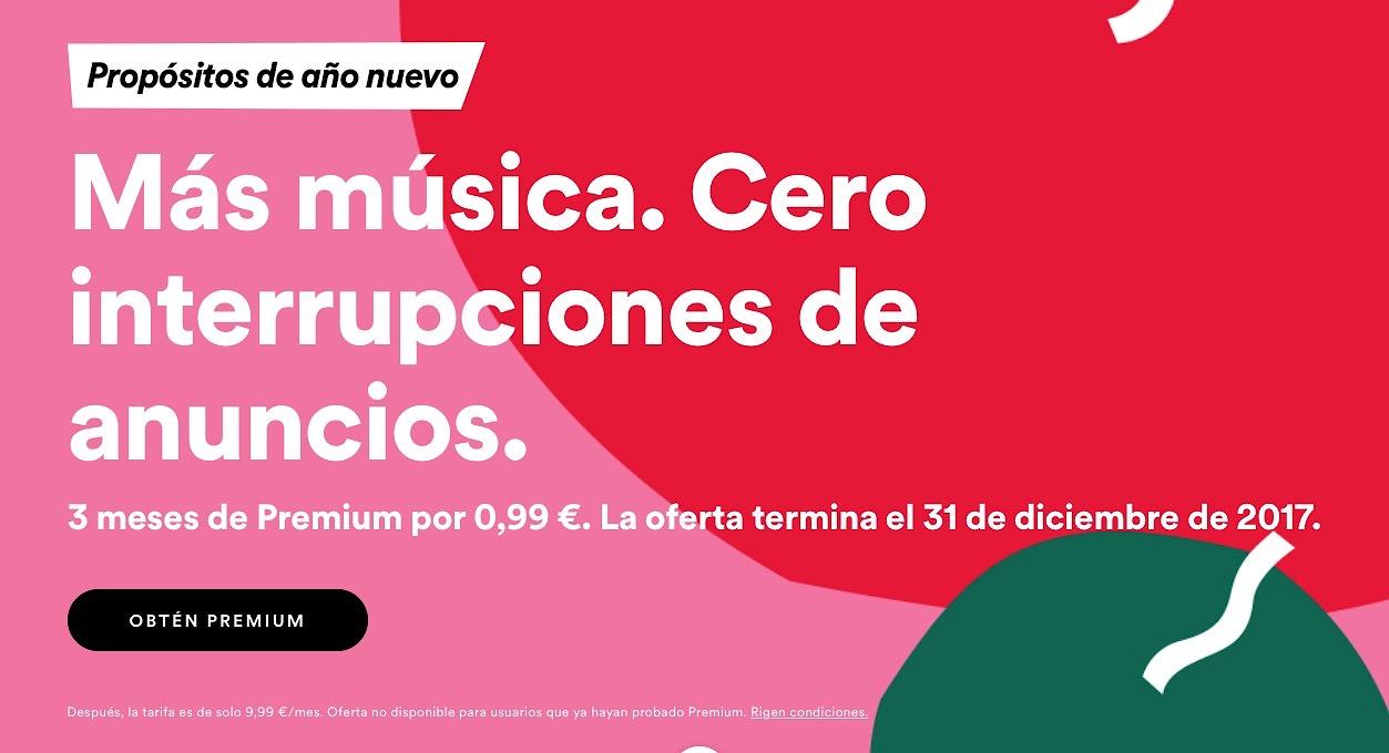 Spotify lanza una oferta de 3 meses por un euro