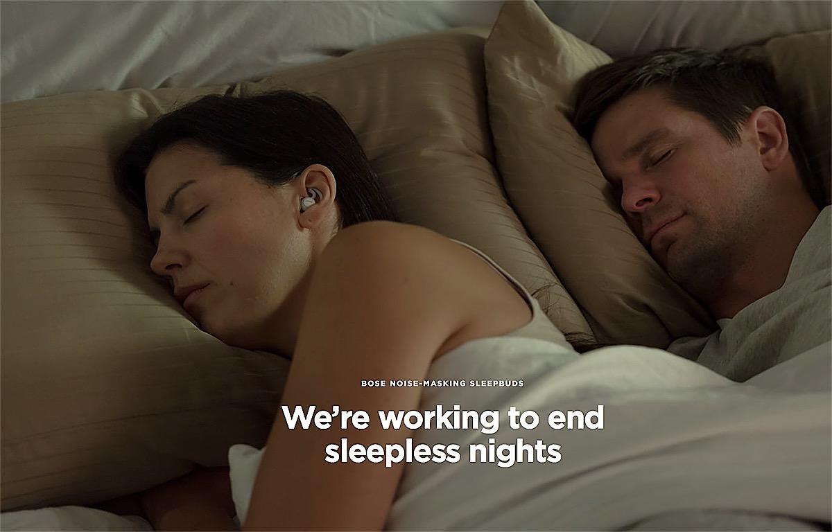"""Los auriculares Bose Sleepbudsson unos """"súper tapones""""pensados para aislarte del ruido y ayudarte a dormir"""
