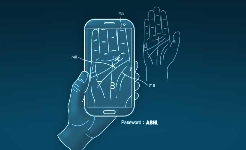 Samsung patenta un método que consiste en leer la palma de la mano para recordarte una contraseña