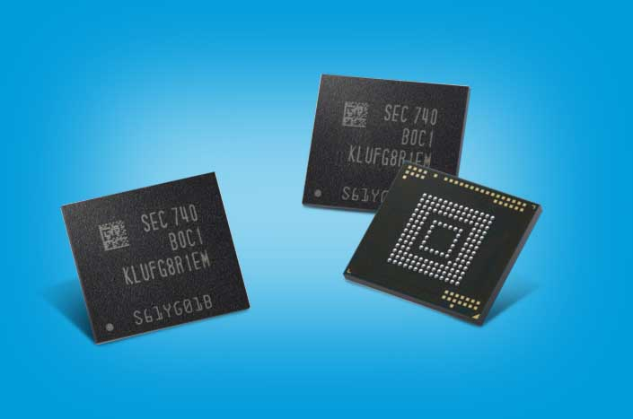Samsung ya fabrica chips de memoria eUFS con capacidades de hasta 512 GB