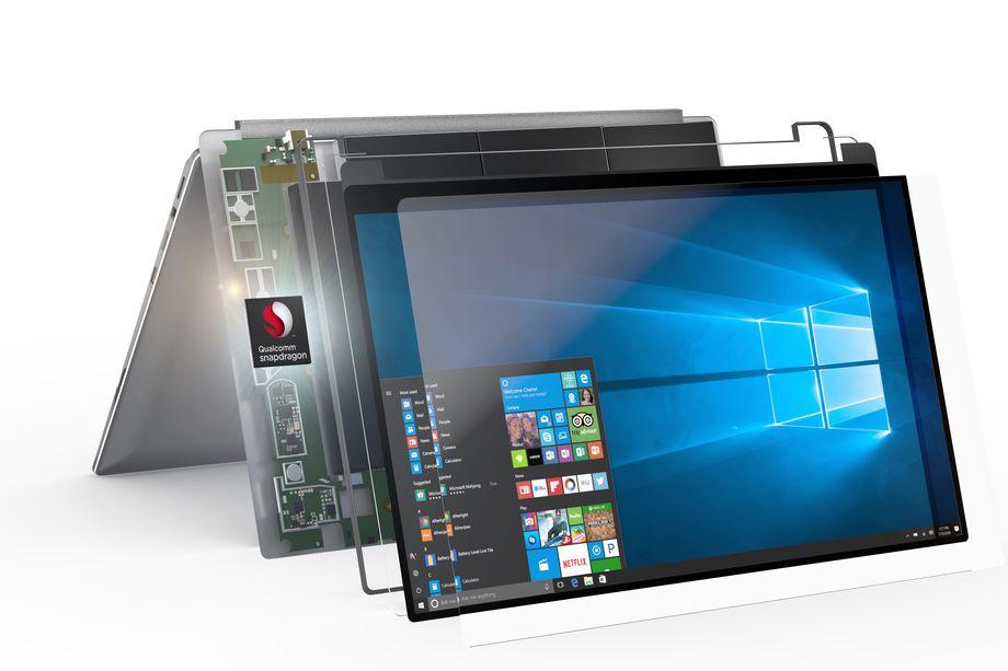 Los nuevos PC móviles usar procesadores ARM como el Qualcomm Snapdragon 835