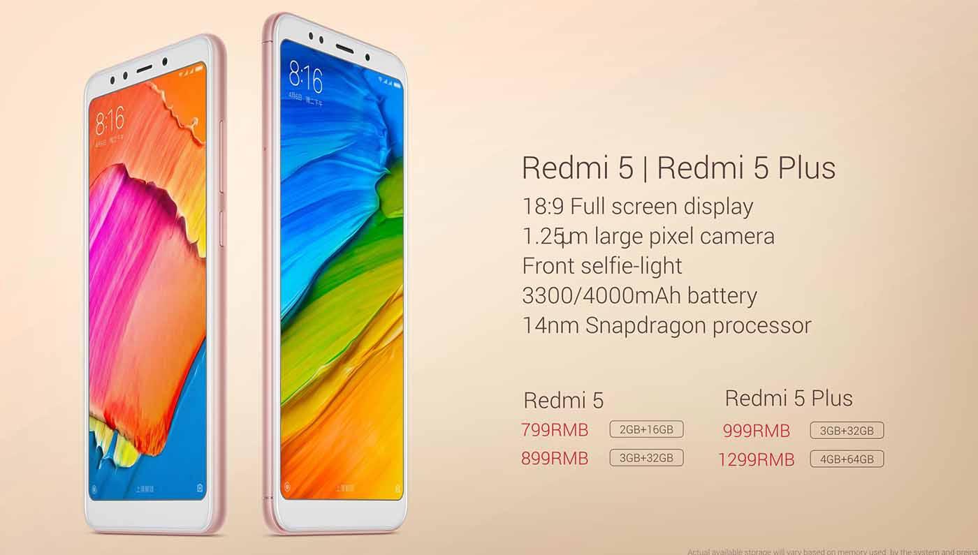Xiaomi ha presentado oficialmente los Redmi 5 y Redmi 5 Plus, que traen por primera vez un frontal con marcos reducidos y una pantalla 18:9